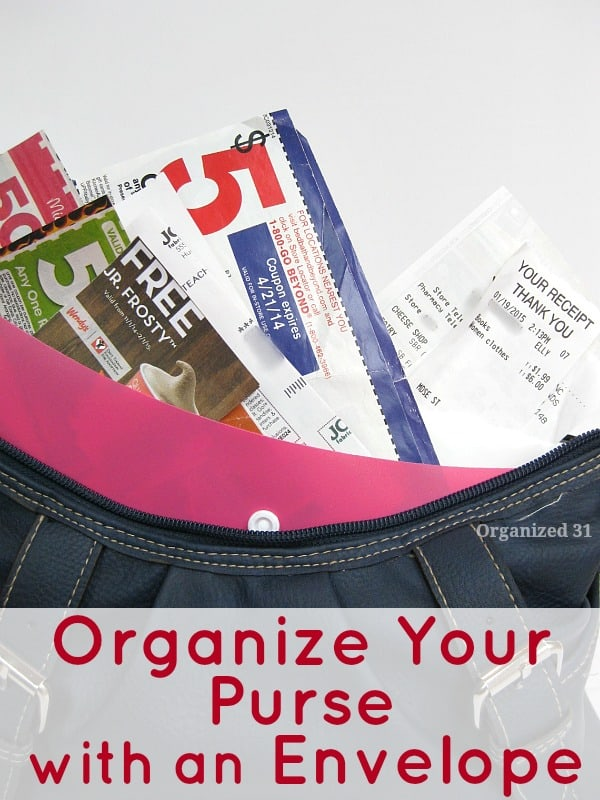 How to Organize Your Purse & Eliminate Receipt Clutter
