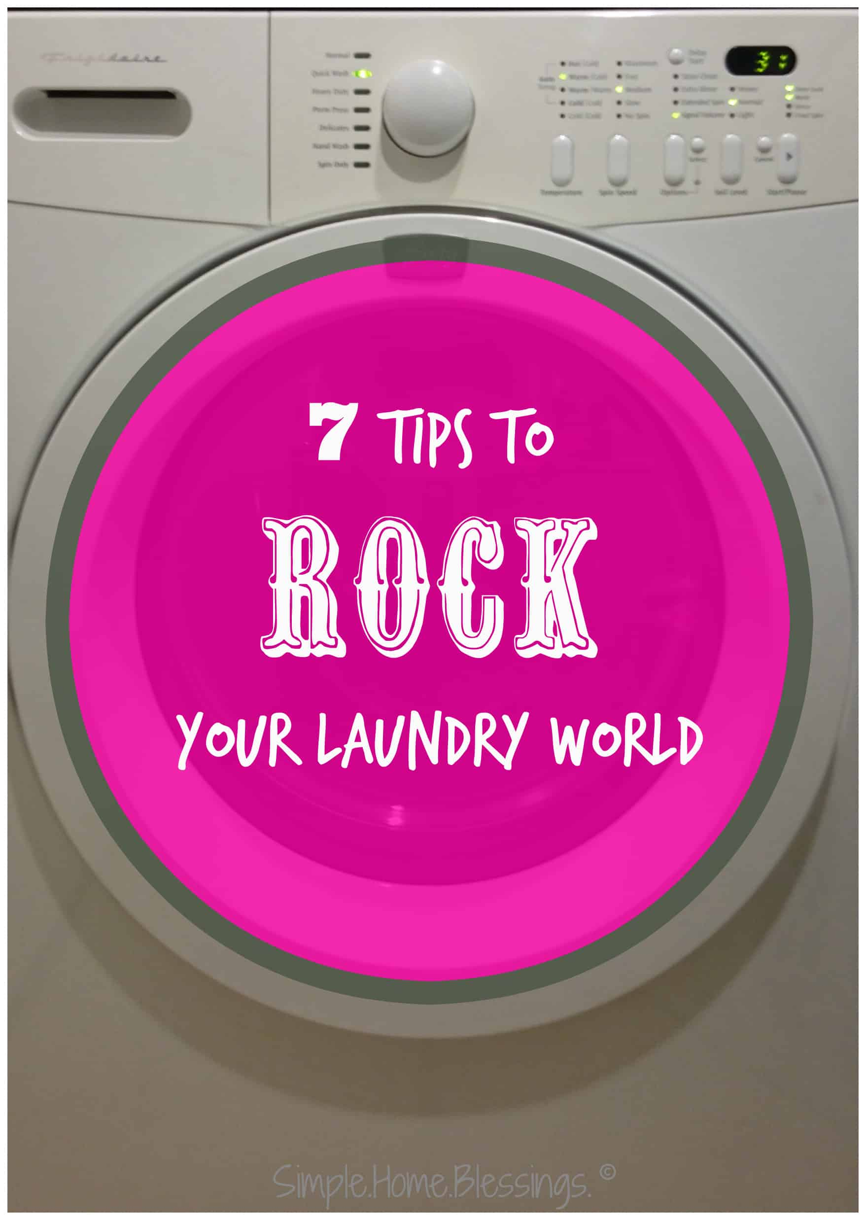 simple laundry tips to save time and money