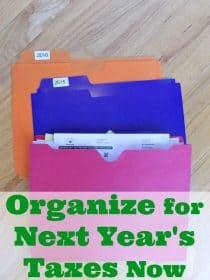 How to organize for next year's taxes, starting NOW