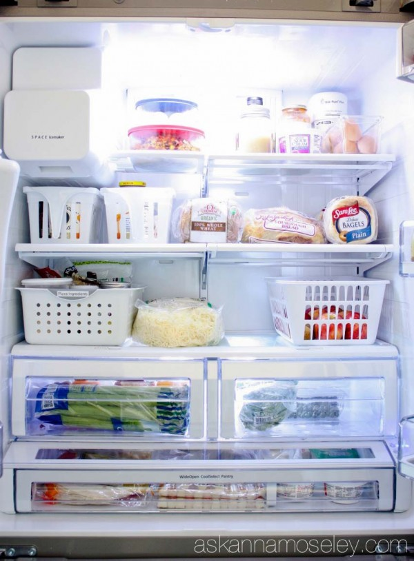 Tips for organizing a small fridge - Ask Anna
