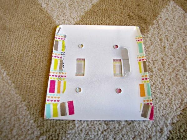 washi tape switch plate