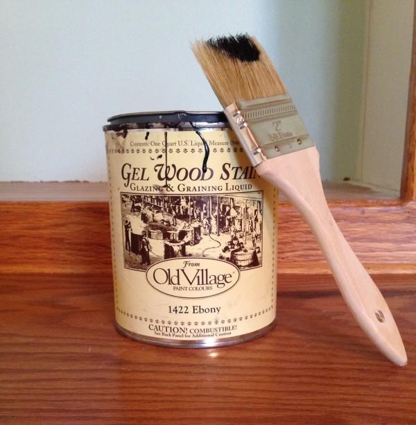 Old Village Paints gel stain, in Ebony