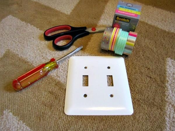 washi tape light switch