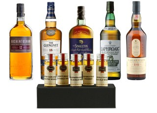 5 Flavors of scotch, a great sample gift for a husband who loves scotch