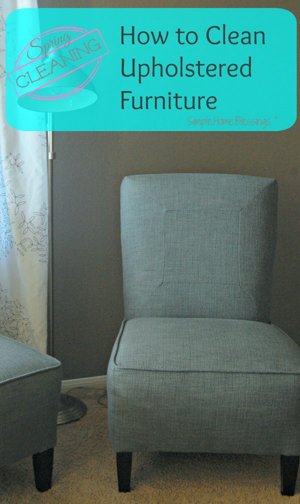 A simple tutorial, how to clean upholstered furniture
