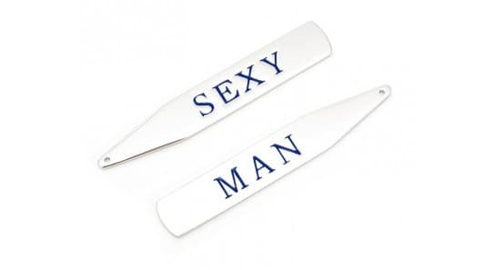 Custom collar stays that will make your husband feel sexy when he's getting ready for work