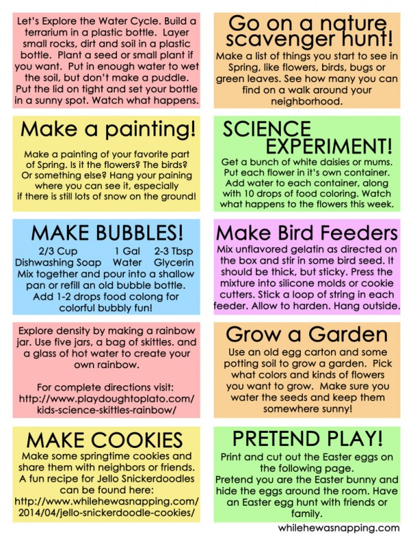 10 Educational springtime activities for kids