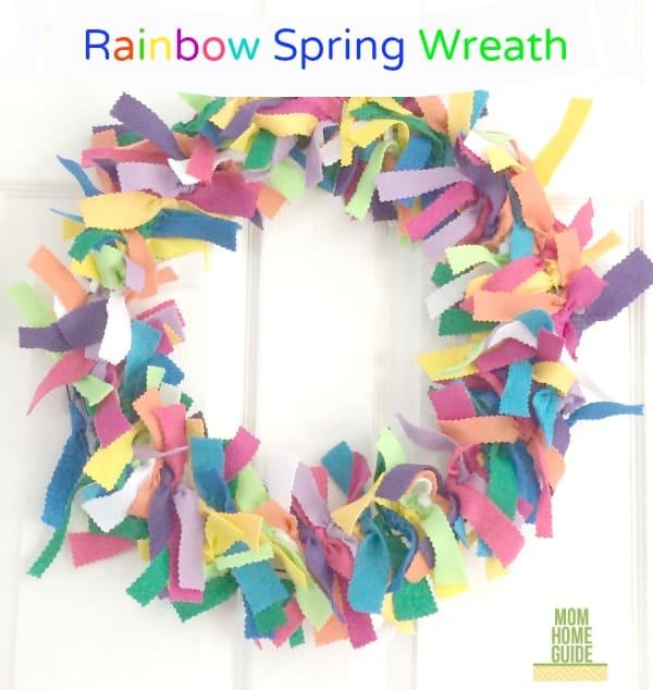 DIY Rainbow Wreath for Spring