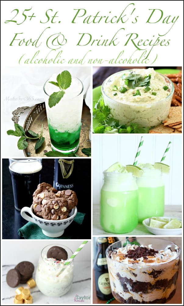 27 St. Patrick's Day Food & Drink Recipes (alcoholic & non-alcoholic)