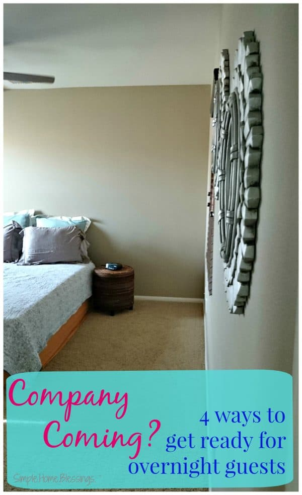 4 simple tips to get ready for overnight guests