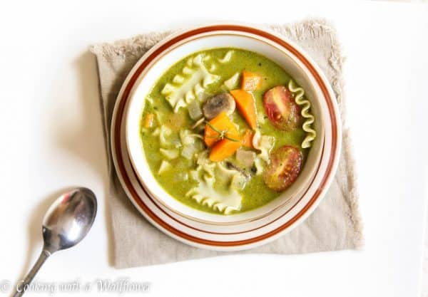 Creamy Pesto Vegetable Lasagna Soup 1