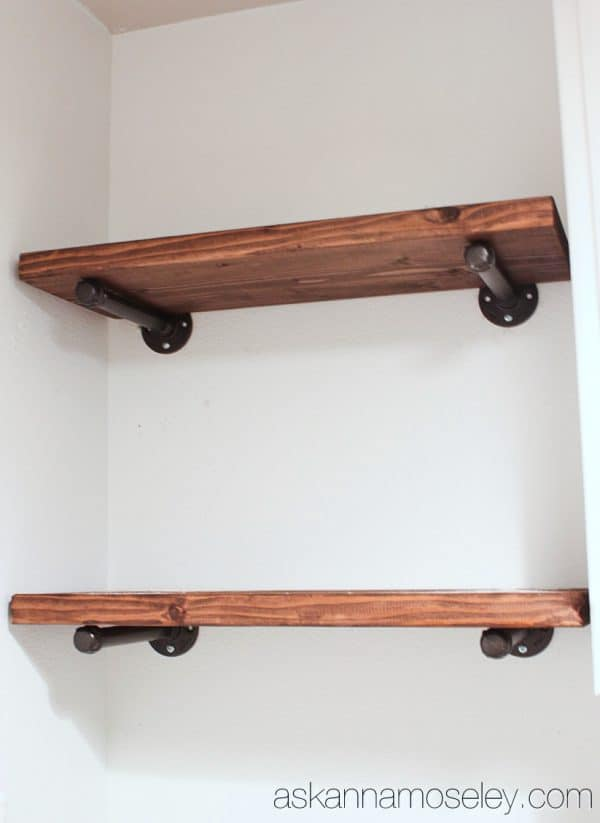 DIY industrial shelves tutorial - Ask Anna