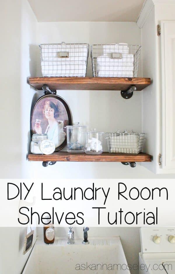 DIY Indutrial shelves tutorial - Ask Anna