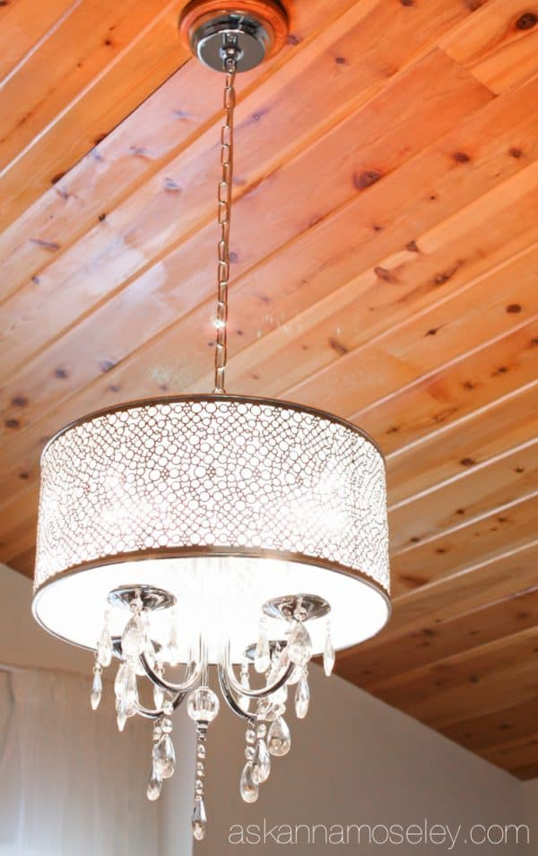 Office makeover chandelier - Ask Anna