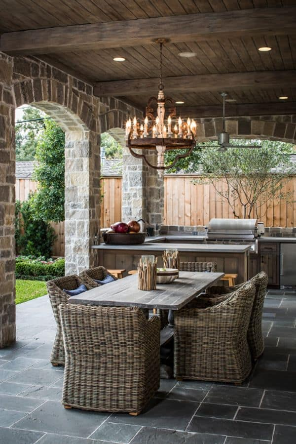 Outdoor kitchen and living room inspiration - Ask Anna