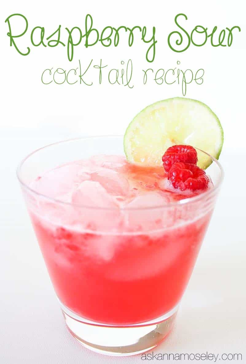 Rasberry sour cocktail recipe - Ask Anna
