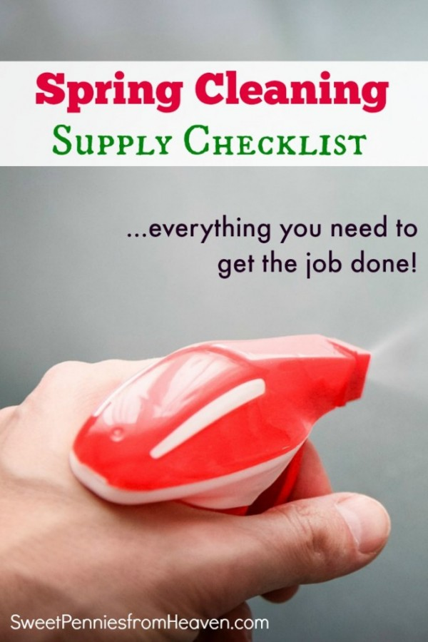 Spring Cleaning Supply List from Sweet Pennies from Heaven