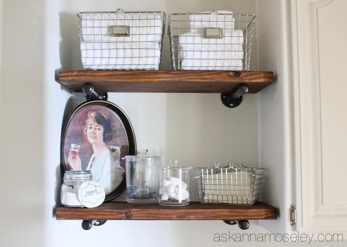Tutorial: how to build industrial shelves - Ask Anna