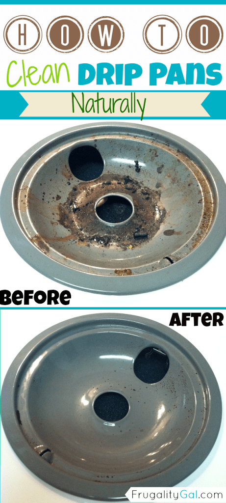 How to clean drip pans with Frugality Gal
