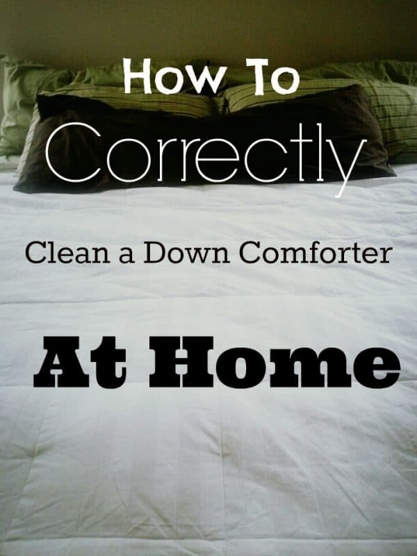 How to clean a down comforter with That Redheaded Life