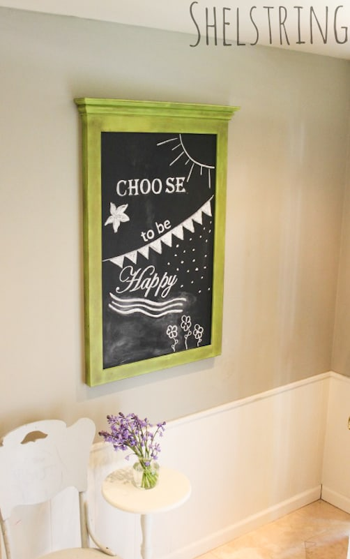 An easy tutorial for how to create chalkboard art