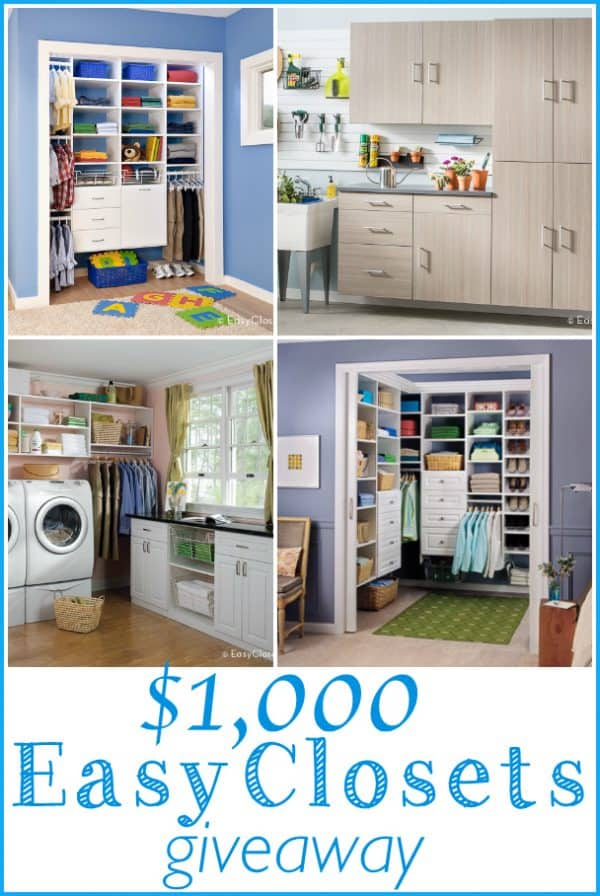 EasyClosets $1,000 giveaway - Ask Anna