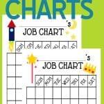 Free printable kids' chore charts