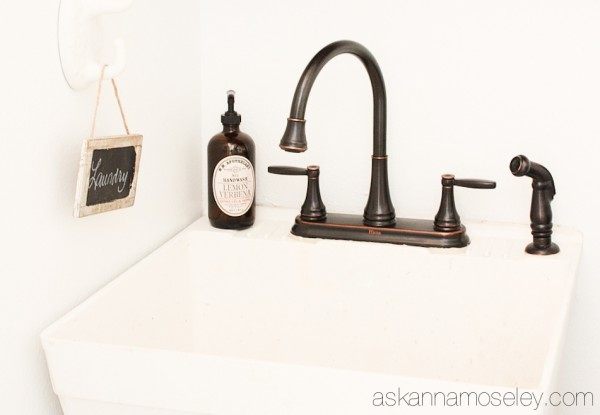 Laundry room faucet from Price Pfister - Ask Anna