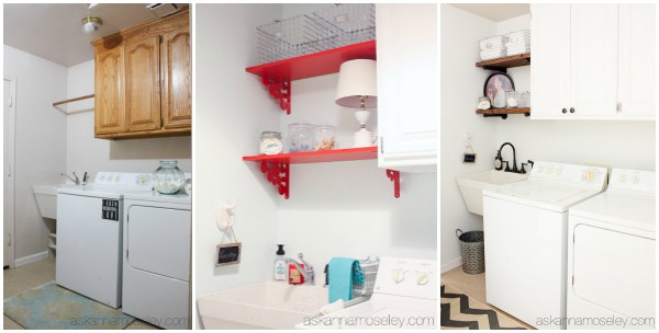 The same room, 3 times - laundry room makeovers - Ask Anna