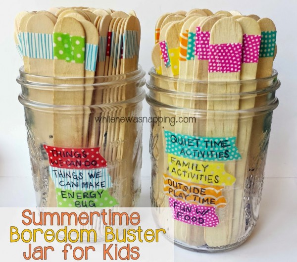 Summertime Boredom Buster Jar for Kids