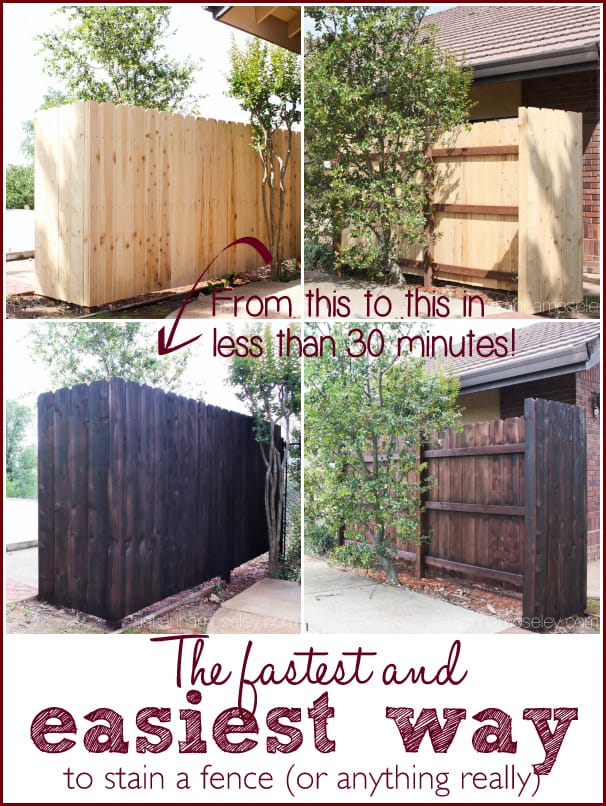 The fastest and easiest way to stain a fence (or anything really) - Ask Anna