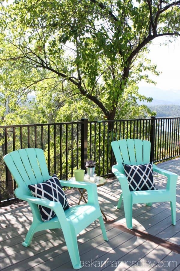 Backyard deck expansion with Trex decking - Ask Anna