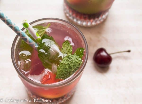 Refreshing cherry lemonade, the perfect summertime treat