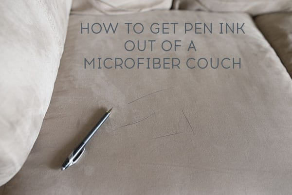 How to get ink out of a microfiber couch, a super simple solution that only takes seconds! | Ask Anna