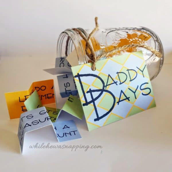 Daddy Date Jar by While He Was Napping