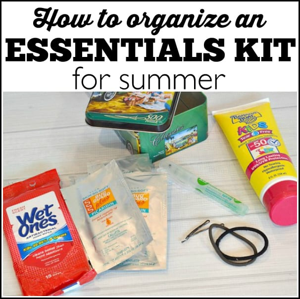 How to organize a summer essentials kit