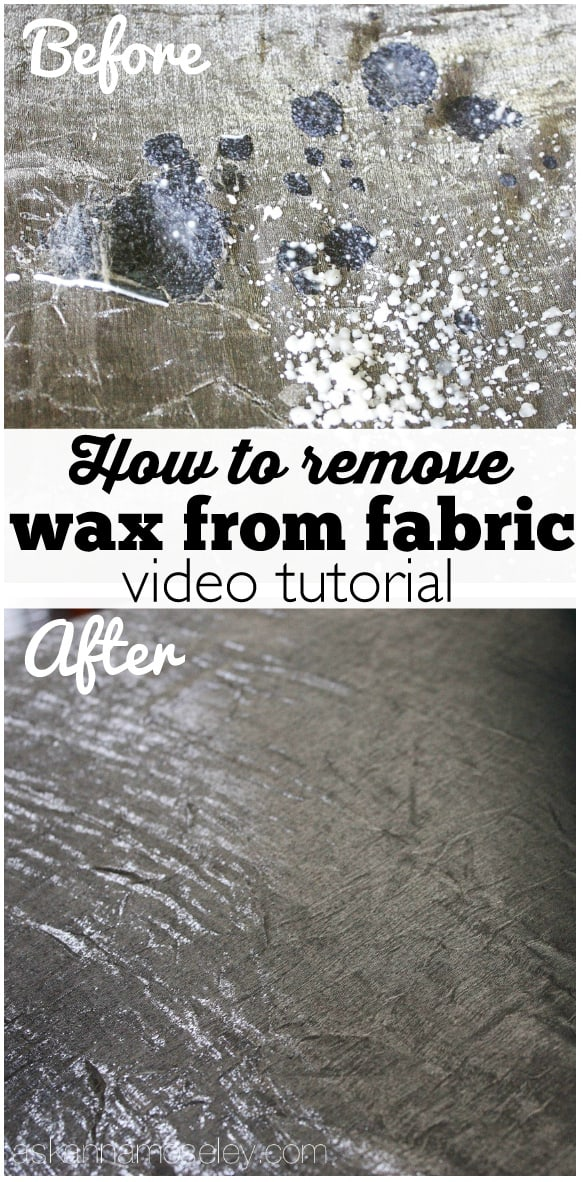 A quick video tutorial for how to remove wax from fabric or anything else it might have spilled on - Ask Anna