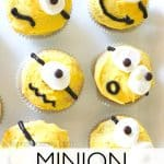 Minion cupcakes to celebrate the new Minion movie - Ask Anna