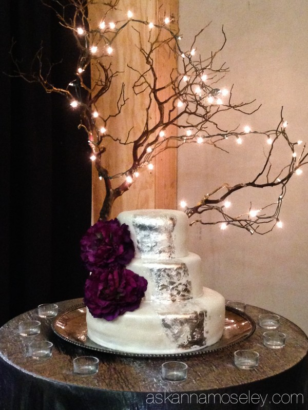 Silver leaf birthday cake for a Panem themed birthday party- Ask Anna