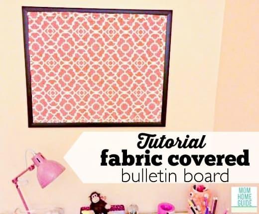 DIY fabric covered bulletin boards - tutorial