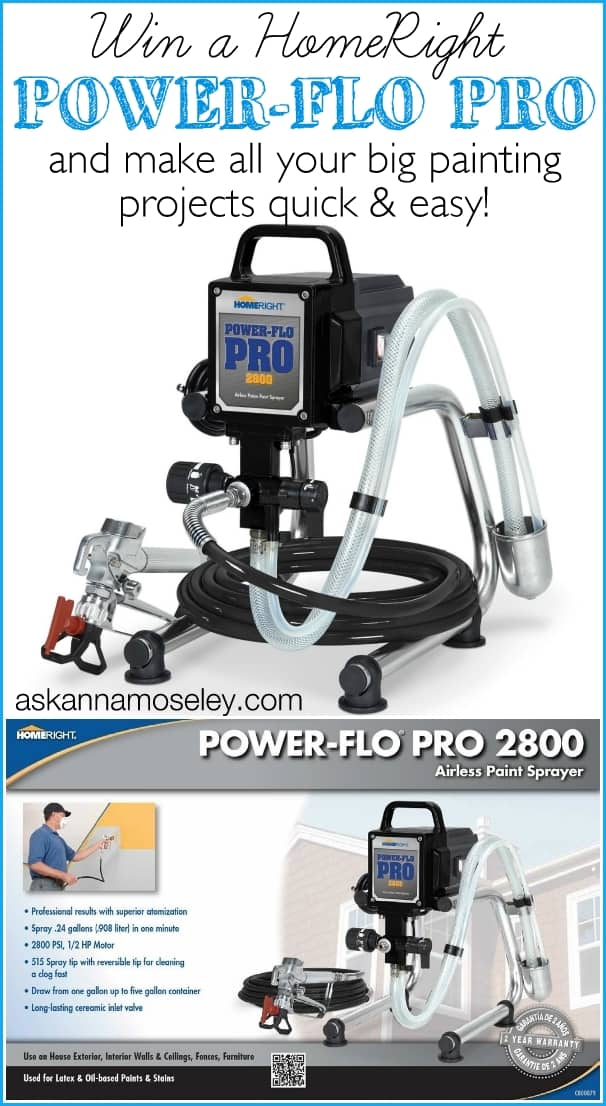 HomeRight Power-Flo Pro 2800 Giveaway - Ask Anna
