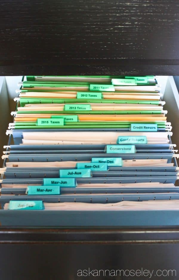 How to organize bills and taxes and drastically reduce paper clutter - Ask Anna