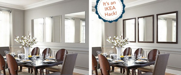 Use READYFrame mirrors to customize an IKEA mirror, for a fabulous, and easy IKEA hack! - Ask Anna