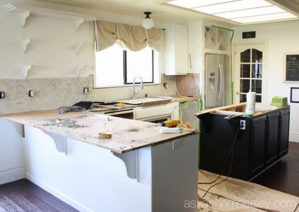 Kitchen counter demo - Ask Anna