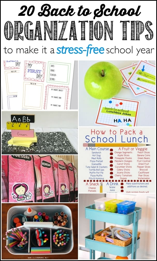 20 back to school organization tips to make it a Stress-Free school year - Ask Anna