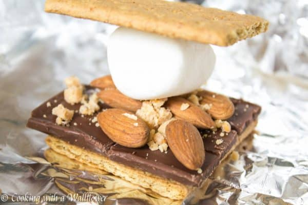 Almond toffee crunch s'mores, a delicious twist on a classic favorite