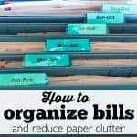 How to organize bills and reduce paper clutter - Ask Anna