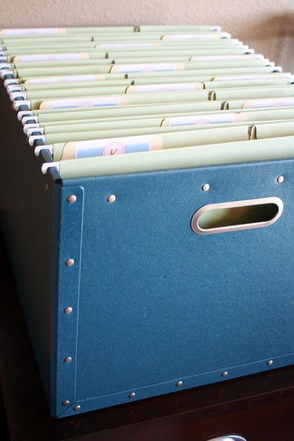 School work organization boxes from iHeart Organizing
