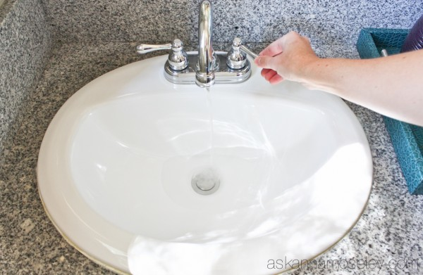 A super quick tip for getting rid of the gunk around the bathroom sink drains - Ask Anna