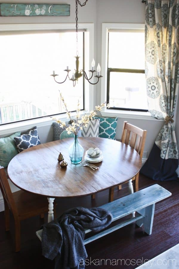 Budget-friendly breakfast nook makeover - Ask Anna
